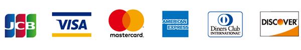 ご利用できるクレジットカードの種類(公式オンラインショップ)